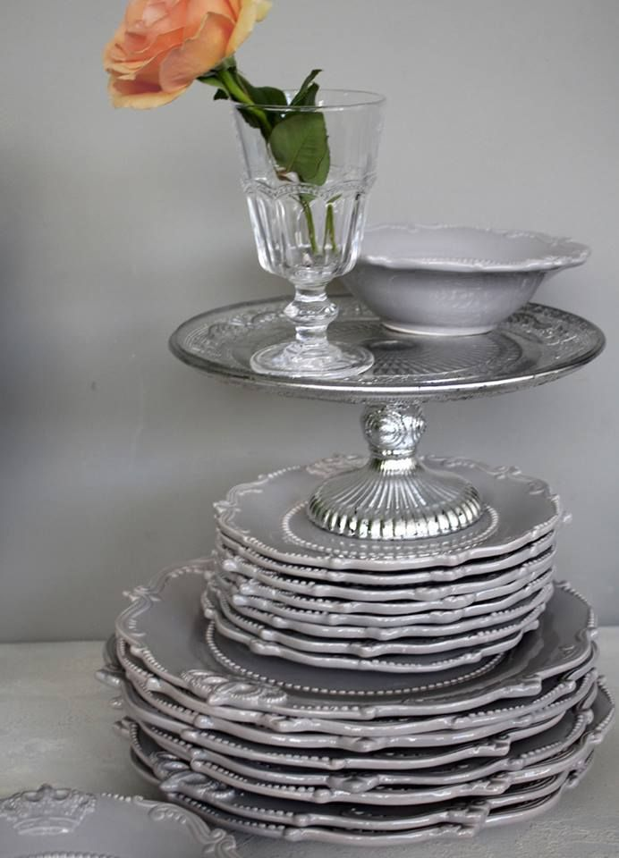 French grey dinner ware, available to order at Interiosity, Douglas, Cork.
