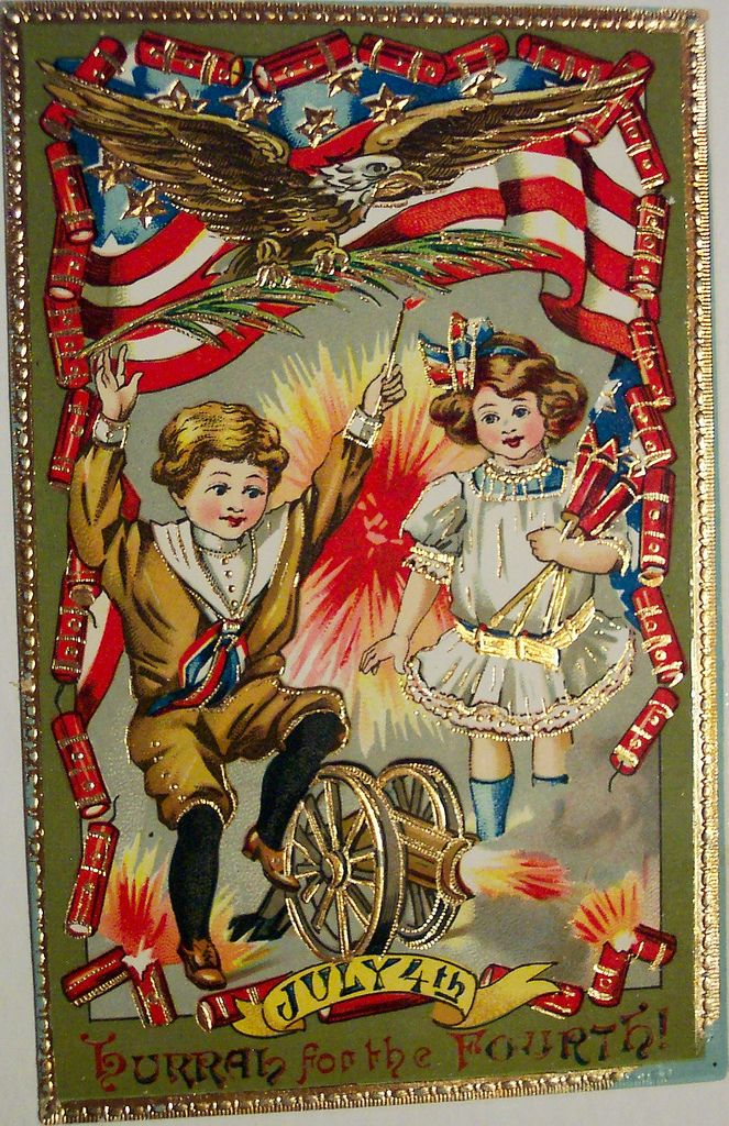 Vintage 4th of July Postcard | Flickr - Photo Sharing!