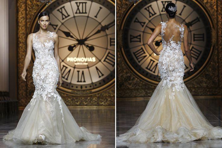 Los vestidos de novia que se vienen  Irina Shyk deslumbró con su figura curvilínea y su cara radiante. Foto: AFP Photo