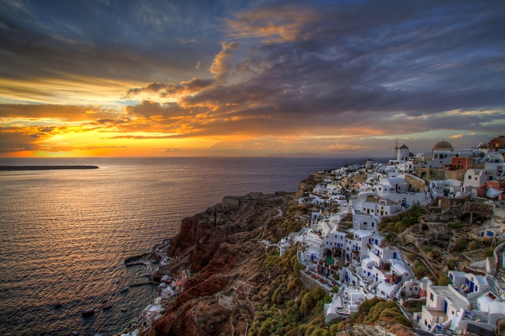 The Best Sunset in the World over Oia