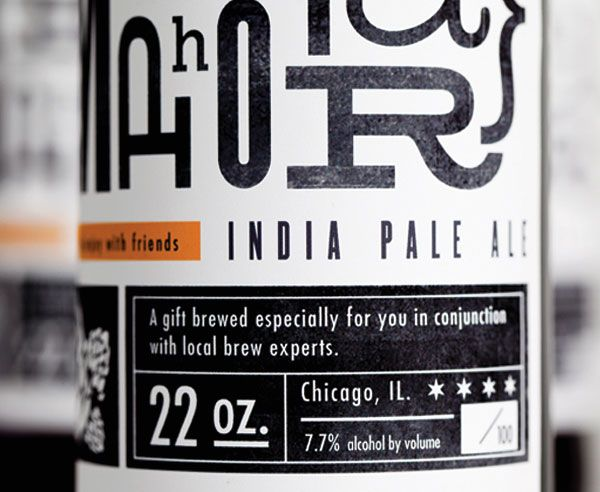 Metaphor IPA label, designed by Justin Soest