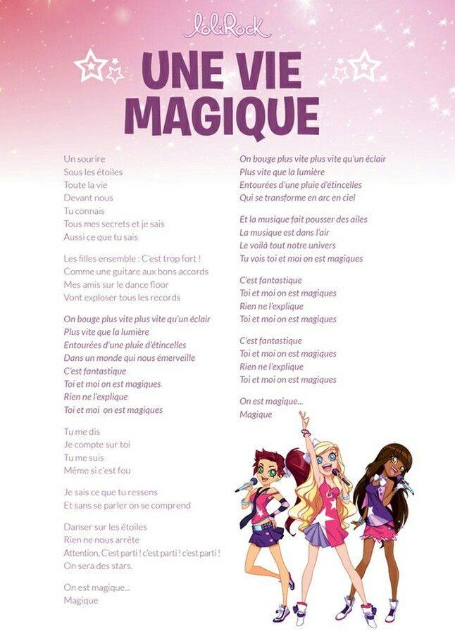 Une Vie Magique Paroles