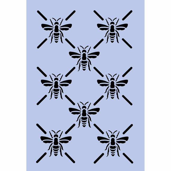 Bees Stencil Bumble Bee BELLE BEES Pattern A4