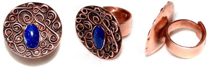 Anillo de cobre y lapislázuli   Alhajas o cosas valiosas