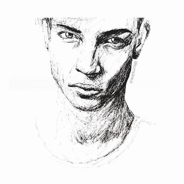 Result of accidently getting up an hour too early... #goodmorning #art #instaart #artistsoninstagram #potd #photooftheday #kunst #kunstwerk #artwork #draw #drawing #illustrator #male #creative #skizze #doodle #sketch #inspiration #artinspiration#wip #workinprogress #arte #illustration #copic #pen #blackandwhite #malemodel #lineart #face @artss.support @worldofartists @pashaparvez @imaginationarts @37minus