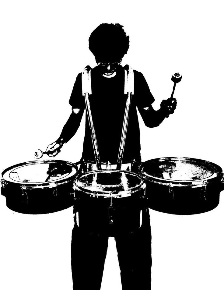 student silhouette drumline - Google Search | School ...