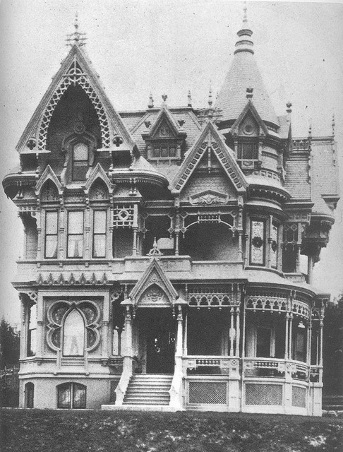 C.M. Forbes Mansion. Built C. 1887, Portland, Oregon. (demolished) formerly located at NW corner of Vista Avenue and Park Place.