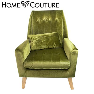 Home Couture The Elizabeth Armchair with Pillow - Green   Buy Sofa & Arm Chairs Online - oo.com.au