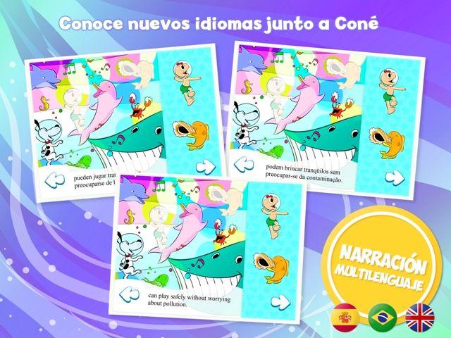 La #App de Coné en tres idiomas :)