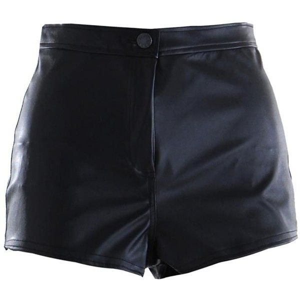 Womens PVC Leather Look Short Button Fastened Pocket Hot-Pants UK 6-... ❤ liked on Polyvore featuring shorts, bottoms, pants, short, micro shorts, pvc hot pants, hot pants, short hot pants and hot shorts
