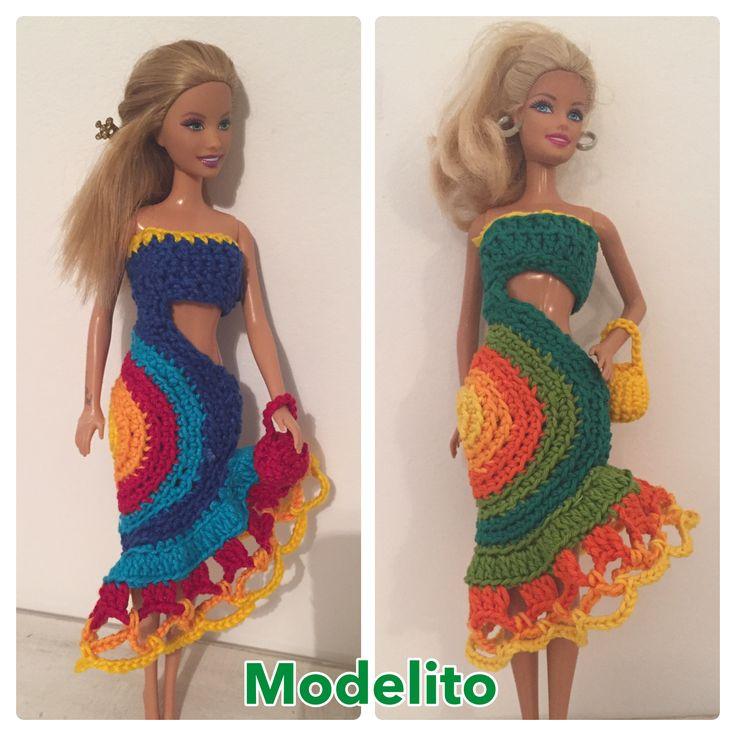 Modelitos de croche para boneca Barbie