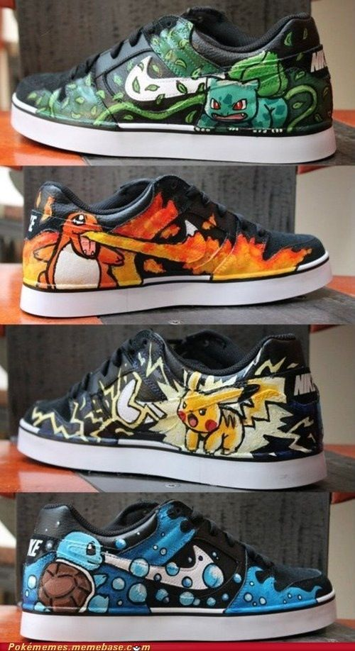 Lol Nikes inspired by Pokemon  These are pretty cool