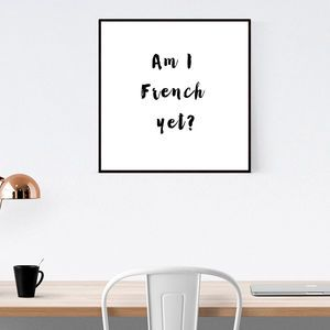 French Typography Wall Print