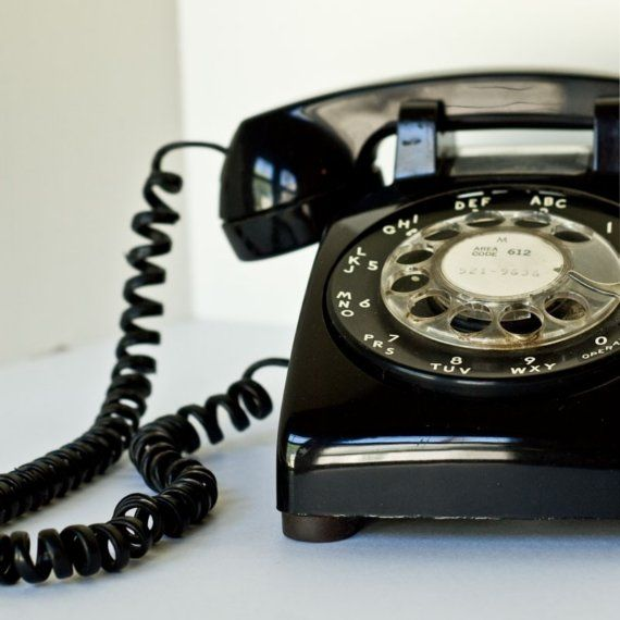 Vintage Black Rotary Phone.                            by LaBrocanterie on Etsy