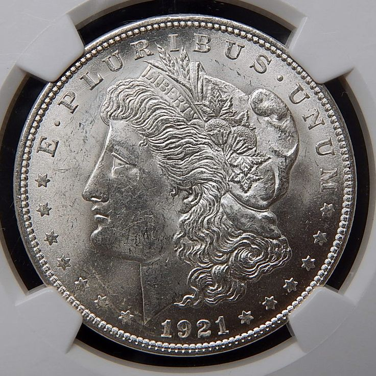 1921 Us Mint Silver Morgan Dollar Graded By Ngc Ms 63