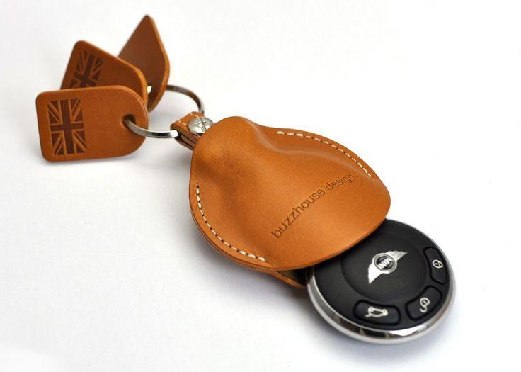 Leather car key cover   http://lomets.com-SR