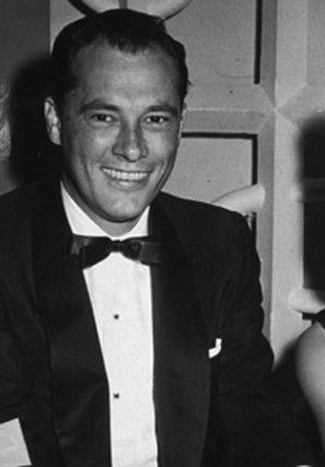 """Conrad Nicholson """"Nicky"""" Hilton, Jr. (1926-1969) was an American socialite, hotel heir, businessman, & TWA director. He was a son of Conrad Hilton, founder of Hilton Hotels. Hilton had an affair with his step-mother, Zsa Zsa Gabor, in 1944. He was Elizabeth Taylor's 1st husband (1950-51) with the marriage ending in divorce. In 1958, Hilton married oil heiress Patricia """"Trish"""" McClintock. Hilton died of a heart attack at the age of 42, brought about by many years of heavy alcohol consumption"""