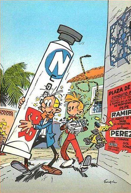 9emeart: Zugolbr, le dentifrice qu'il vous faut !! Andre Franquin
