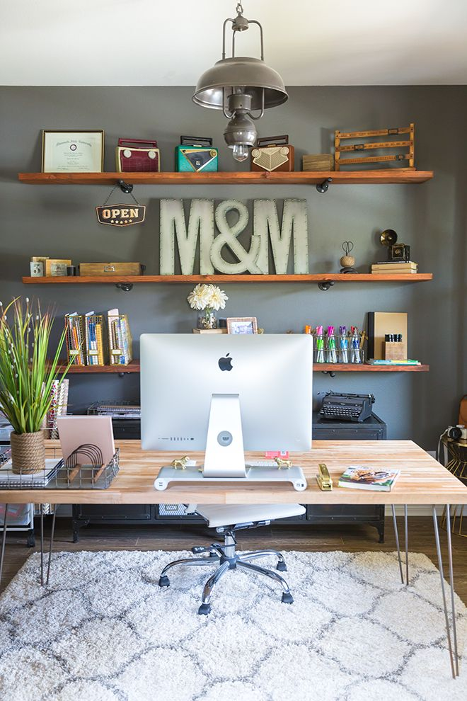 Merveilleux Snag This Look   Industrial Home Office With A Soft Twist   Learn How To  Create A Warm And Inviting Industrial Style Decor Home Office   Inspiration