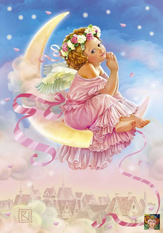 Спокойной ночи картинки с ангелами, для учительнице
