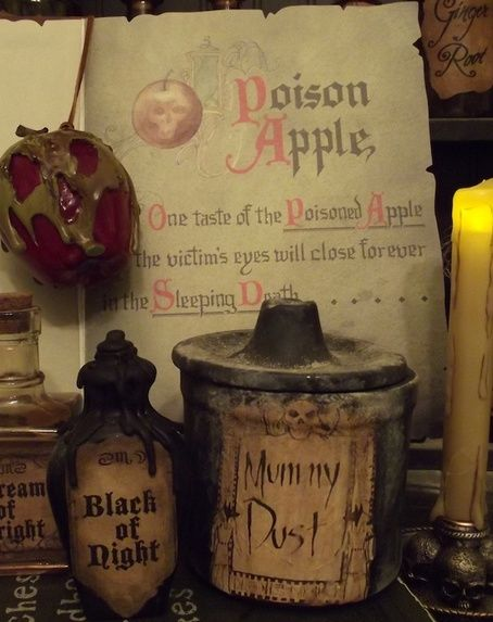 evil queens spellbook and diy poisoned apple halloween kitchen decorhalloween - Halloween Kitchen Decor