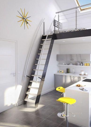Les 25 meilleures id es de la cat gorie escalier gain de place sur pinterest - Escalier loft lapeyre ...
