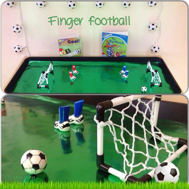 Finger  Football (fine motor, oral language, ocular development, turn taking)