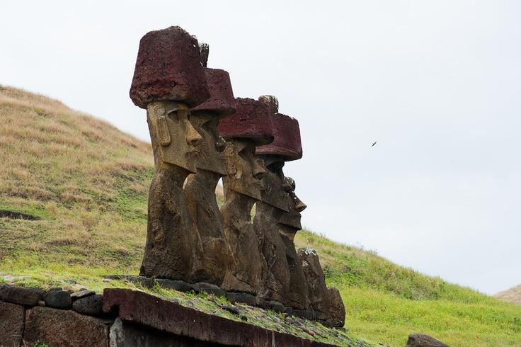 Moai at Anakena Beach, Easter Island