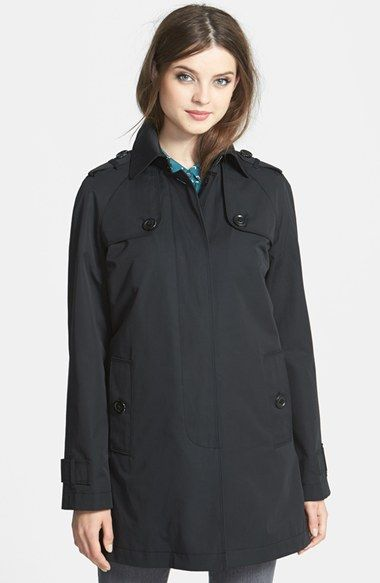 London Fog A-Line Raincoat (Online Only) available at #Nordstrom