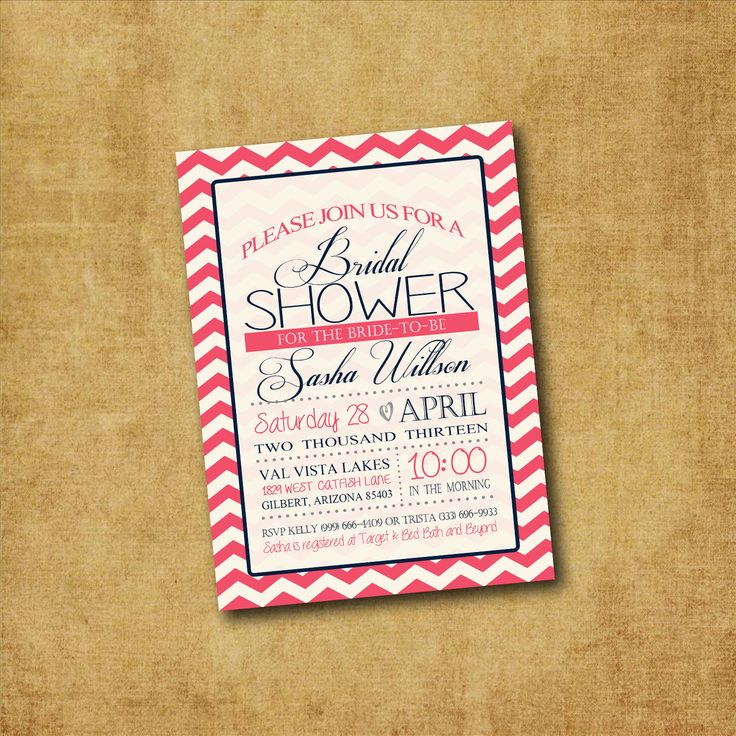 SALE - Printable Chevron Bridal Shower Invitation - Chevron Bridal Shower, Bachelorette Party, Couples Shower, Lingerie Party, Hens Night by Wedinfinity on Etsy
