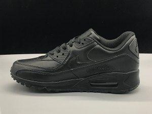 ce91a6e4a2 Mens Womens Nike Air Max 90 Running Shoes Leather Triple Black | Nike Air  Max 90 Running Shoes | Pinterest | Nike air max, Air max 90 and Nike air