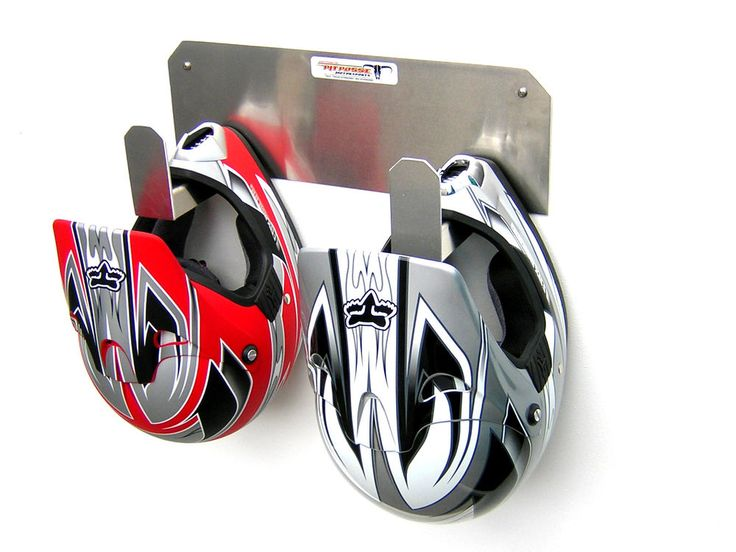 "You are buying 1 new 2 Mount Helmet Hook. Great way to store your helmets. Manufacture 5 year warranty. Will hold 2 helmets. Quality Assurance. 6""H x 18""W x 6""D. Warranty."