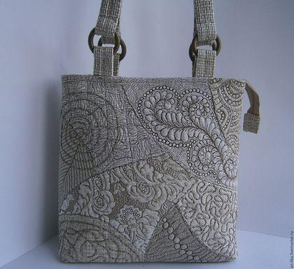 Женские сумки ручной работы. Ярмарка Мастеров - ручная работа. Купить сумка лоскутная стеганая Дория. Handmade. Серый