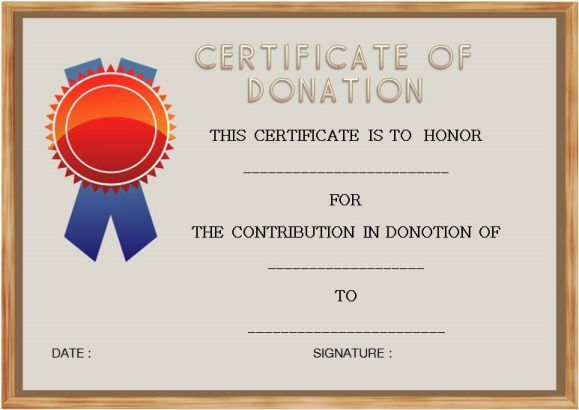 Beautifully Designed Donation Certificate Templates Suitable For