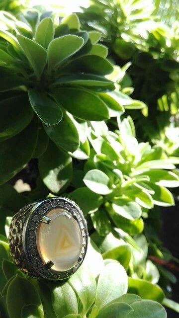 Calsedony natural precious stone from indonesia. Threeangel No tretmen