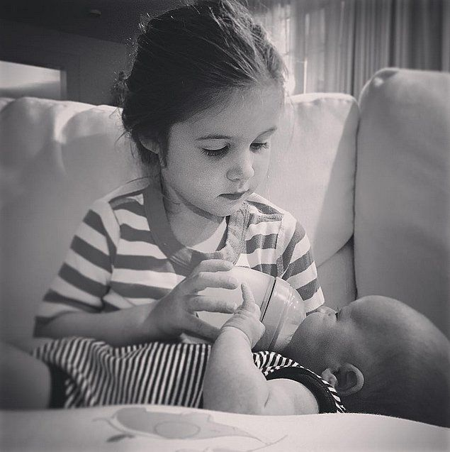 Tiffani Thiessen's Sweet Family Photos Are Absolutely Adorable: It's only been a few weeks since Tiffani Thiessen and her husband, Brady Smith, welcomed a baby boy, but their son has already shared some seriously cute moments with his big sister.