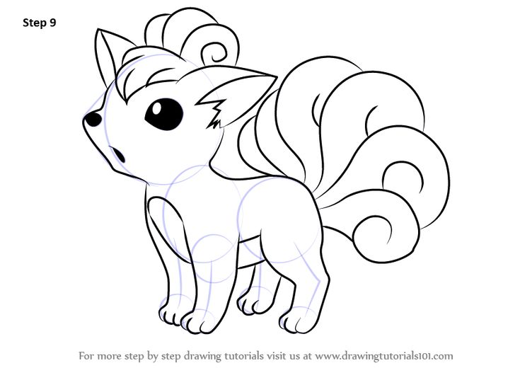 Learn How to Draw Vulpix from Pokemon (Pokemon) Step by