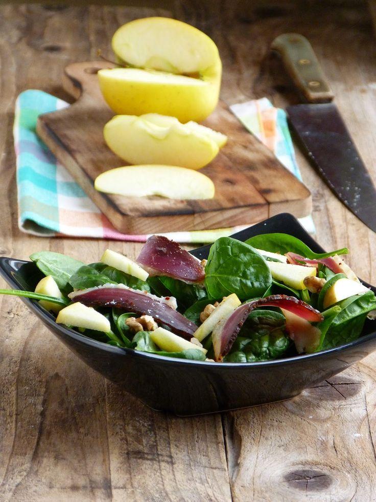 Salade de pousses d 39 pinards magret de canard s ch - Cuisiner lentilles seches ...