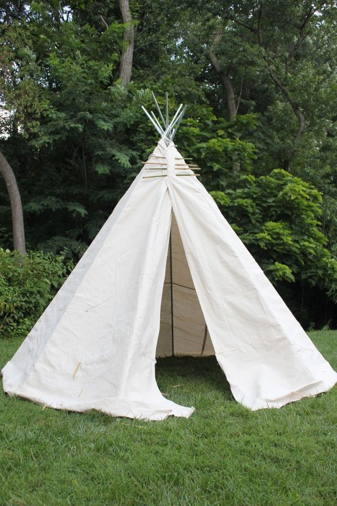 How to build your own backyard teepee.