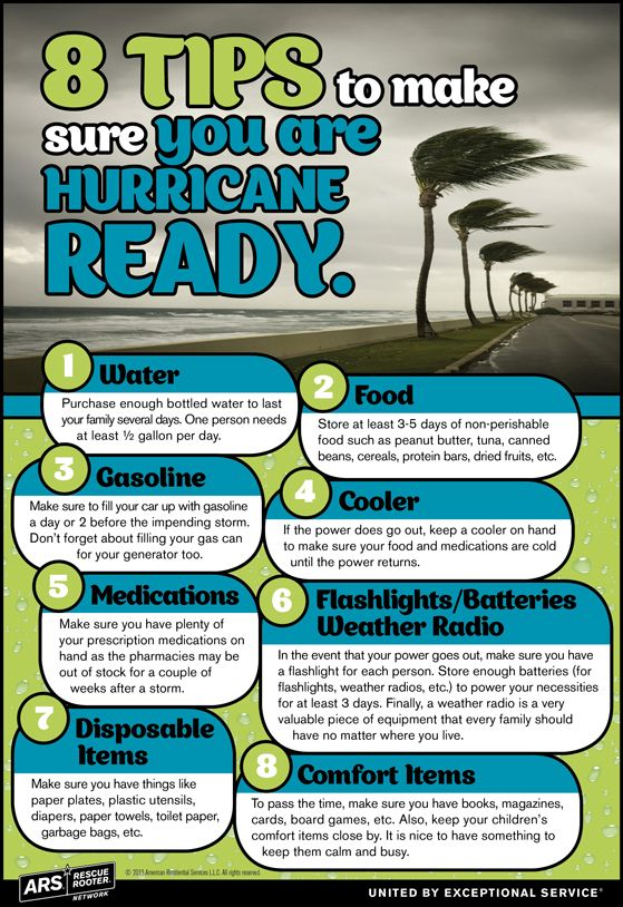 INFOGRAPHIC: 8 Tips to Prepare for a Hurricane