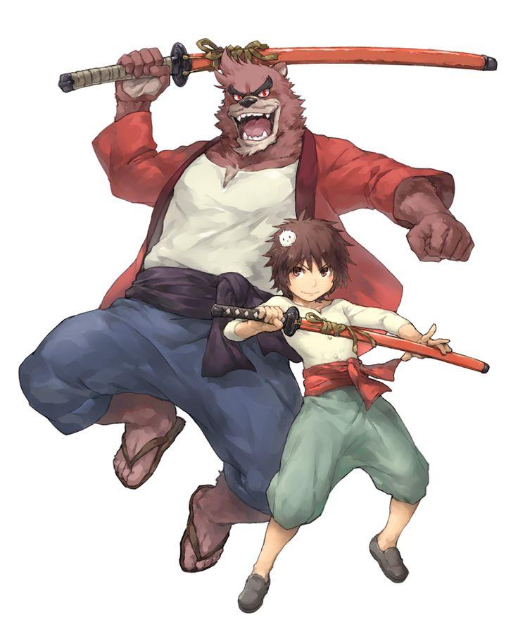 The Boy and the Beast #Kumatetsu #Kyuta (by noku13456)