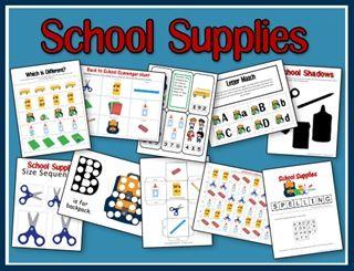 School: Preschool Packs, Supplies Preschool, United Study, Schools Supplies, Schools Theme, Preschool Printable, Supplies United, Free Schools, Free Printable