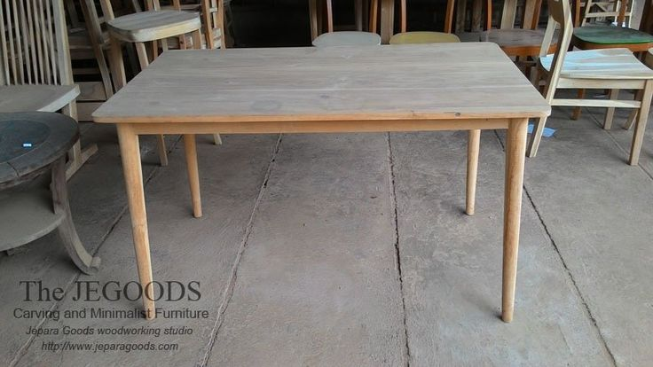 We #produce dining table #furniture ideal for cafe, restaurant with #minimalist, #scandinavia, #retro or #carving styles made of #teak or #mahogany solid. Indonesia fine quality furniture at factory price.    Jegoods Woodworking Studio Indonesia (@jeparagoods) | Twitter