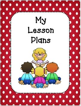 Lesson Plan Book Covers and Planning Template-Red and ...
