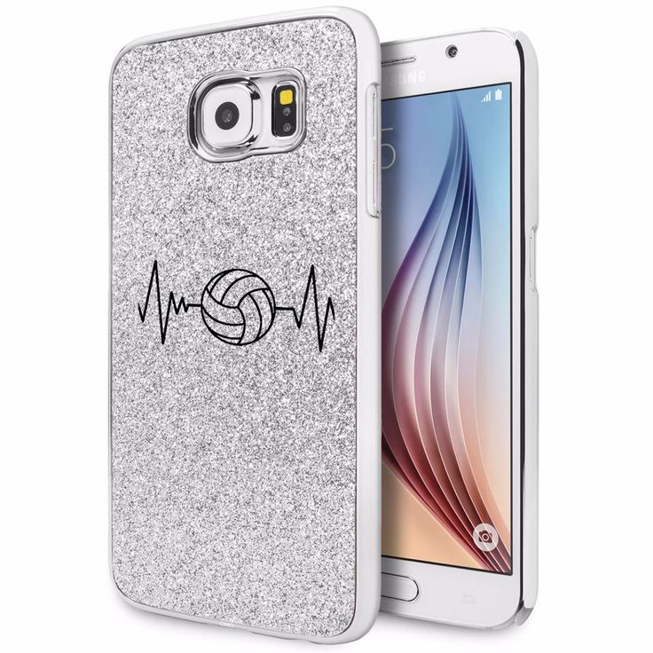 For Samsung Galaxy S4 S5 S6 Edge Glitter Bling Case Cover Heart Beats Volleyball in Cell Phones & Accessories, Cell Phone Accessories, Cases, Covers & Skins | eBay