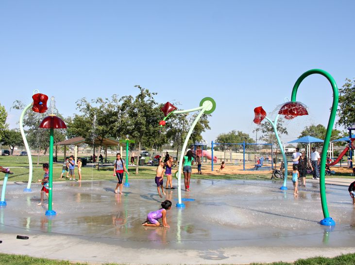 Coe Park #Splashpad - City of Hanford | California, USA