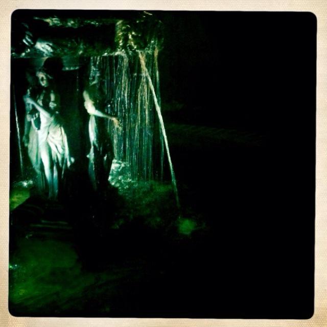 Fountain outside @ night. So pretty!