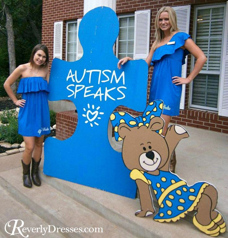 Custom Revelry dresses for Alpha Xi Delta philanthropy day during sorority recruitment.