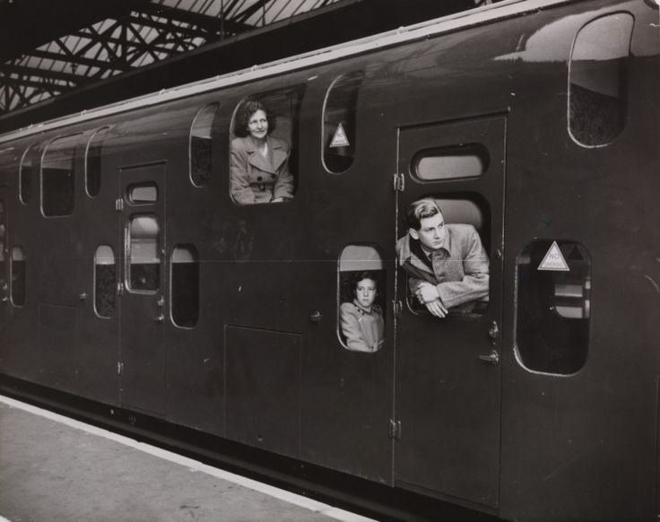 A photograph of passengers inside a double-decker train at Charing Cross station, London, taken in November 1949 by an unknown photographer for the Daily Herald. The train was designed by Oliver V S Bullied (1882-1970) in the hope of relieving train overcrowding, it ran until 1971.