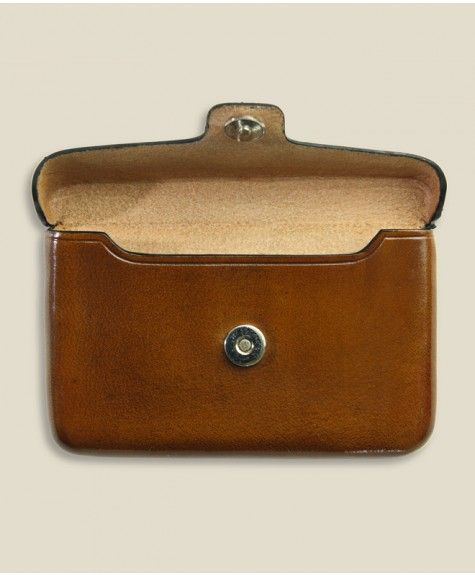 Il Bussetto - Magnetic Card Case - Light Brown